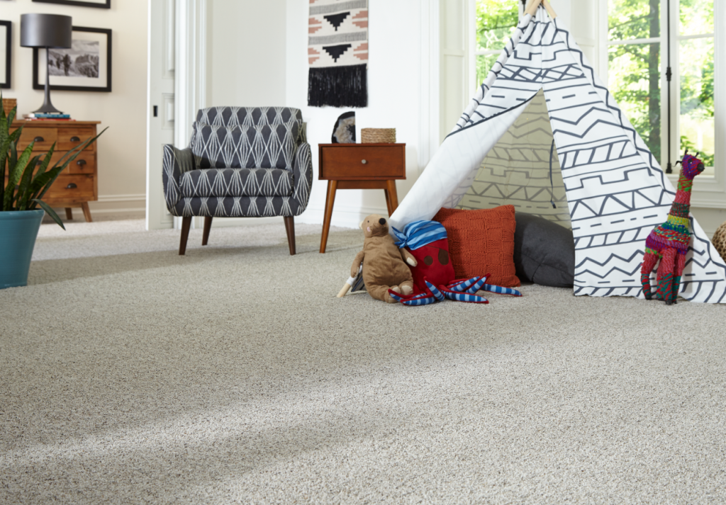 Carpet flooring of the living room | HoC Flooring & Design